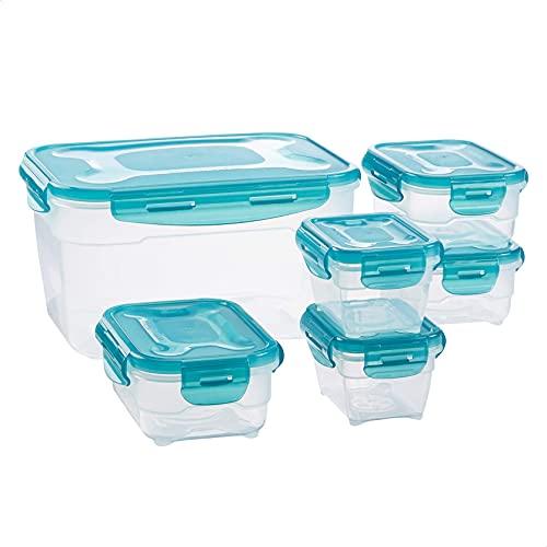 AmazonBasics Aufbewahrungsboxen für Lebensmittel – Set – 6-teilig