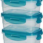 AmazonBasics - Frischhaltedosen-Set, luftdicht, 3-teilig, 12 x 16 x 7 cm