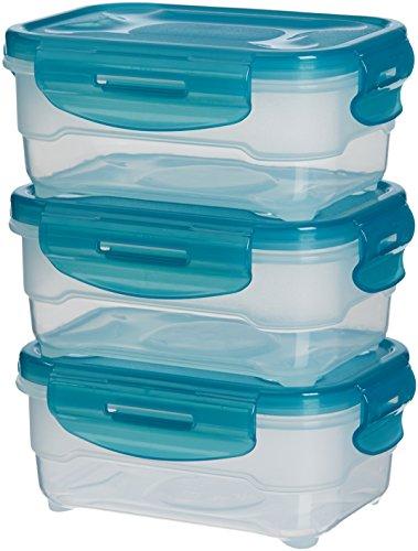 AmazonBasics – Frischhaltedosen-Set, luftdicht, 3-teilig, 12 x 16 x 7 cm