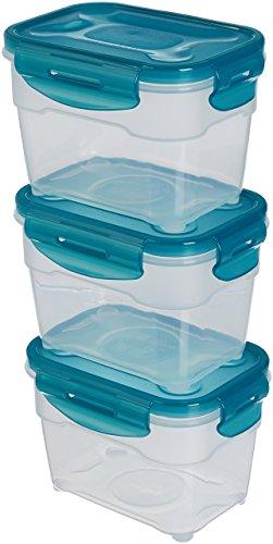 AmazonBasics – Frischhaltedosen-Set, luftdicht, 3-teilig, 16 x 12 x 11 cm