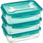 AmazonBasics - Frischhaltedosen-Set, luftdicht, 3-teilig, 23 x 16 x 7 cm