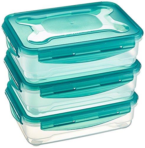 AmazonBasics – Frischhaltedosen-Set, luftdicht, 3-teilig, 23 x 16 x 7 cm