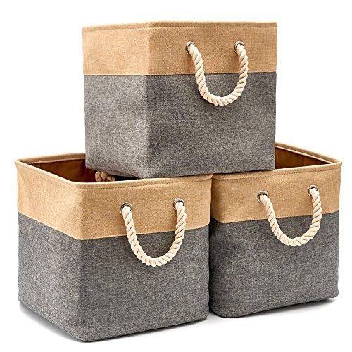 EZOWare Faltbare Aufbewahrungsbox – Würfel – 3er Set