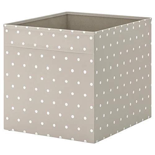IKEA DRÖNA Fach – beige mit weißen Punkten 38 x 33 x 33 cm