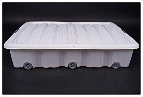Spetebo Unterbettkommode mit Rollen – 80 x 60 x 17 cm – 60 Liter