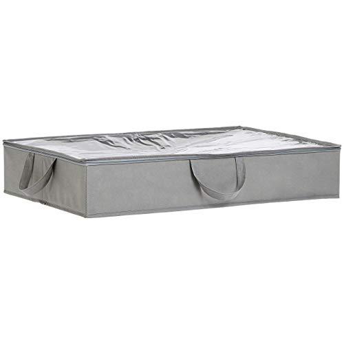 AmazonBasics – Unterbettkommode aus Stoff – 77 x 51 x 14,5 cm
