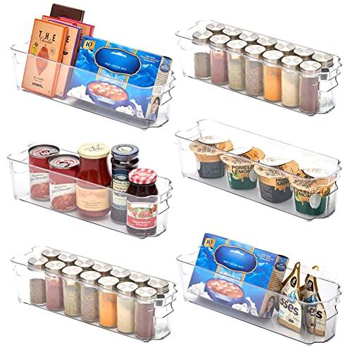 EZOWare Aufbewahrungsbox – Küchenorganizer – transparent – 37 x 10 x 11 cm