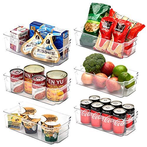 EZOWare Aufbewahrungsbox – Küchenorganizer – transparent – 31,5 x 16 x 9 cm