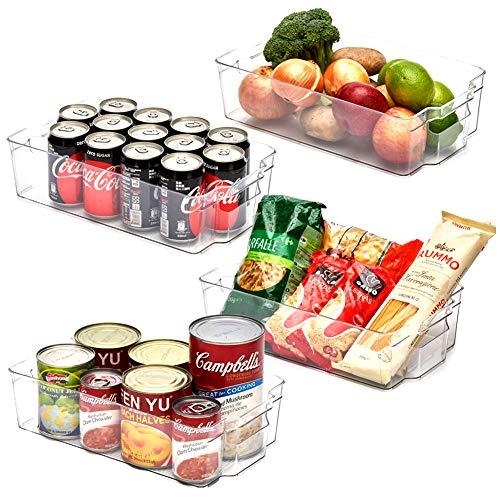 EZOWare Aufbewahrungsbox – Küchenorganizer – transparent – 37 x 21,5 x 10 cm