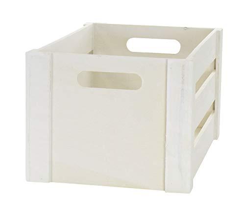 DARO DEKO Holz Kiste mit Griffen – weiß – L