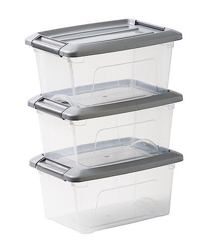 IRIS OHYAMA Aufbewahrungsboxen – Klickverschluss, Plastik – 5l