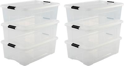 IRIS OHYAMA Aufbewahrungsboxen – Klickverschluss, Plastik – 30l
