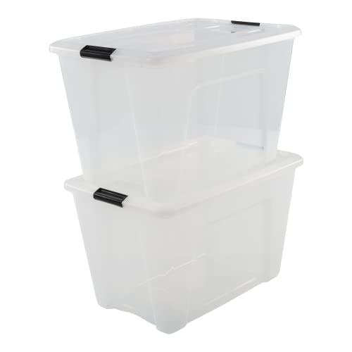 IRIS OHYAMA Aufbewahrungsboxen – Klickverschluss, Plastik – 60l
