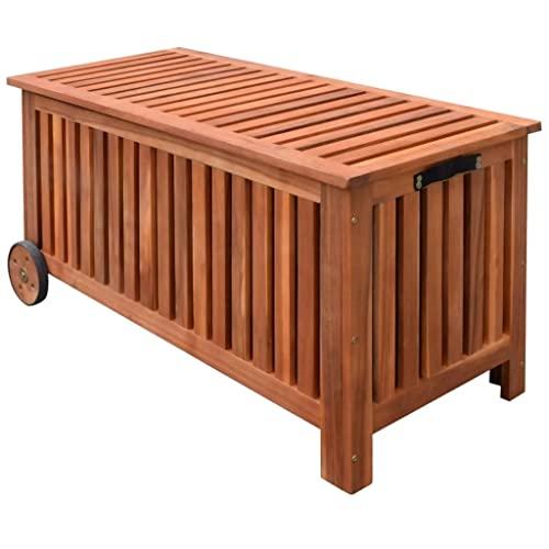 vidaXL Gartenbox mit Rädern – 118 x 52 x 58 cm