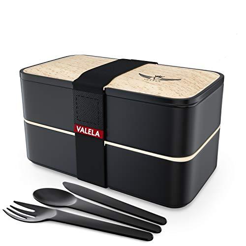 VALELA Bento Box mit 3 teiligem Besteck