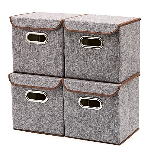 EZOWare Aufbewahrungsboxen inkl. Deckel – 4er Set