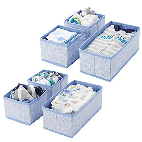 mDesign Aufbewahrungsboxen aus Stoff – 12er-Set
