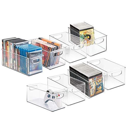 mDesign CD Aufbewahrungsbox für CDs, DVDs, Blu-Rays, PS4 und Xbox One Spiele – kurz und glatt
