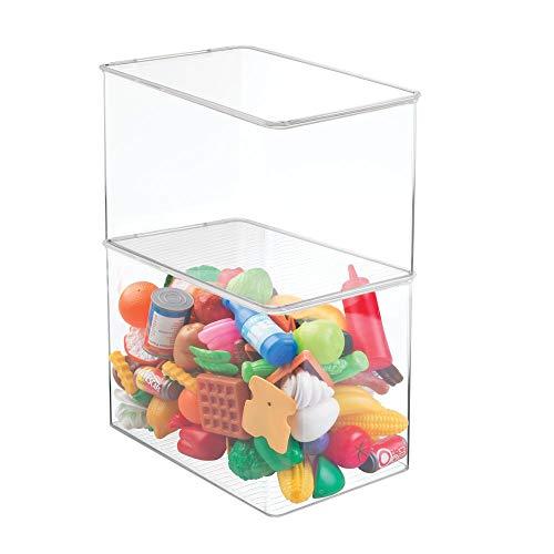 mDesign Aufbewahrungsbox mit Deckel – 2er Set