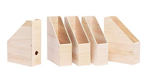 Stehsammler aus Holz mit Griffloch – 5 Stück