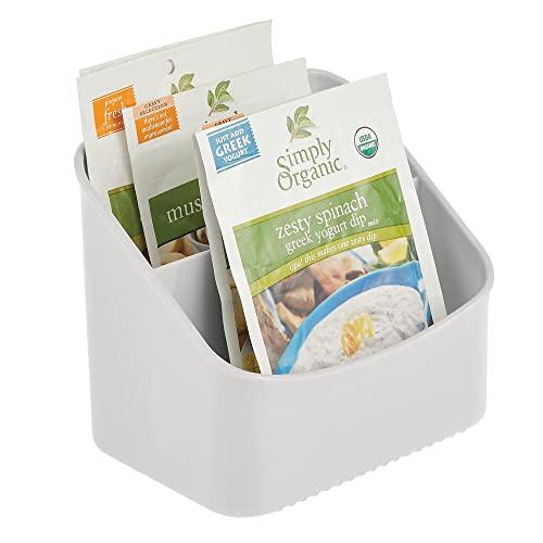 mDesign Küchen Organizer – Aufbewahrungsbox für Tütensuppen, Gewürzmischungen