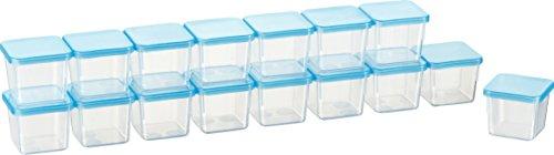Kigima Mini-Tiefkühldose rechteckig – 30ml – 16er Set