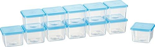 Kigima Mini-Tiefkühldose rechteckig – 80ml – 12er Set