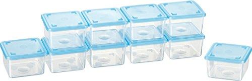 Kigima Mini-Tiefkühldose quadratisch – 125ml – 10er Set