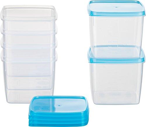 Kigima Mini-Tiefkühldose quadratisch – 750ml – 6er Set