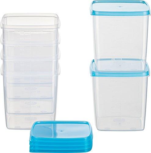 Kigima Mini-Tiefkühldose quadratisch – 1000ml – 6er Set