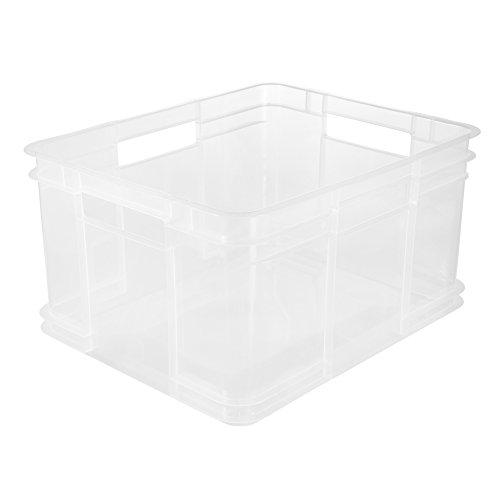keeeper Euro-Box Bruno – transparent – 43 x 35 x 24 cm