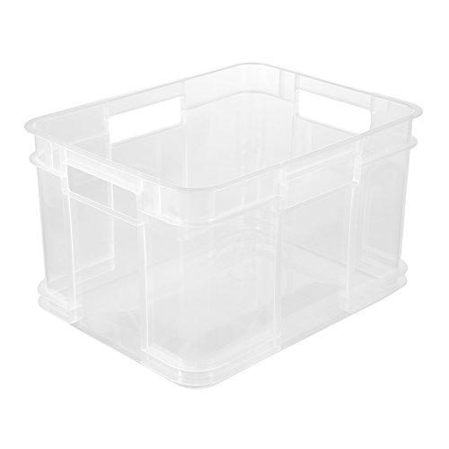keeeper Euro-Box Bruno – transparent – 35 x 27 x 22 cm
