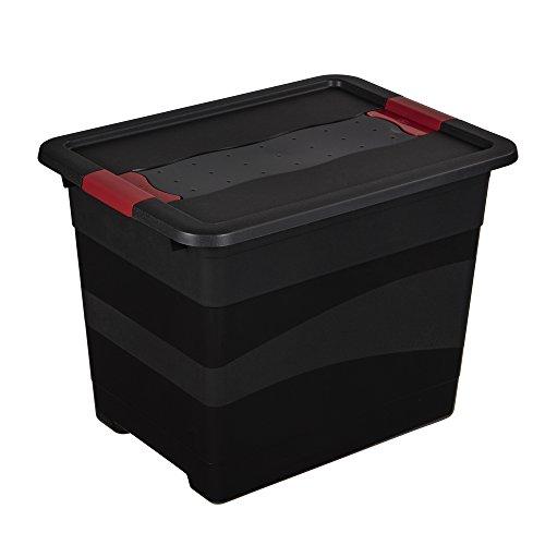keeeper Eckhart – Transportbehälter mit Deckel und Schiebeverschluss – 39,5 x 29,5 x 30 cm