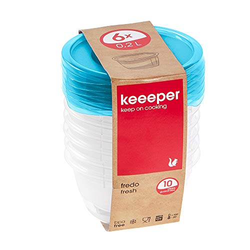 keeeper Fredo Fresh Frischhaltedose – 9,5 x 5 cm – rund – 6er Set