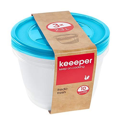 keeeper Fredo Fresh Frischhaltedose – 19,5 x 12 cm – rund – 3er Set