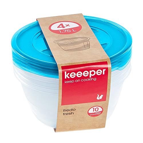 keeeper Fredo Fresh Frischhaltedose – 19,5 x 9 cm – rund – 4er Set