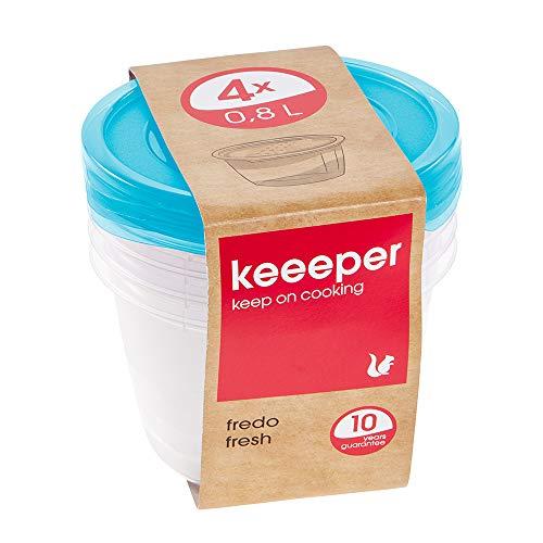 keeeper Fredo Fresh Frischhaltedose – 14 x 9 cm – rund – 4er Set