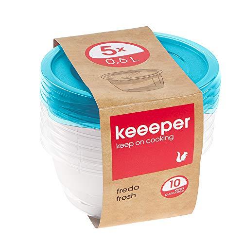 keeeper Fredo Fresh Frischhaltedose – 14 x 6 cm – rund – 5er Set