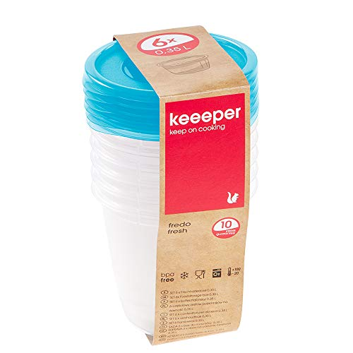 keeeper Fredo Fresh Frischhaltedose – 9,5 x 9 cm – rund – 6er Set