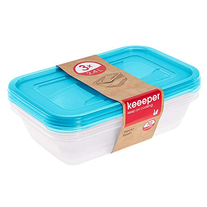 keeeper Fredo Fresh Frischhaltedose – 29 x 19 x 7 cm – eckig – 3er Set