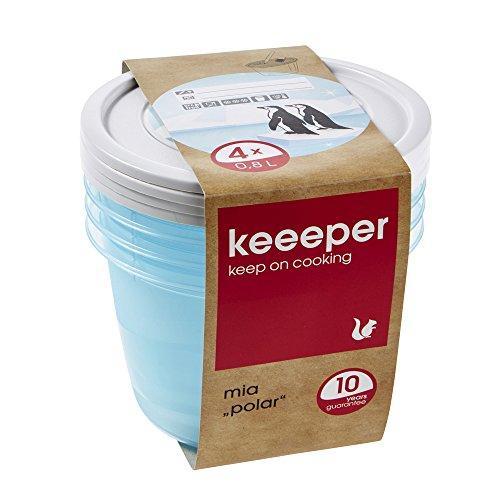 keeeper Mia Polar Tiefkühldose – 14 x 9 cm – rund – 4er Set