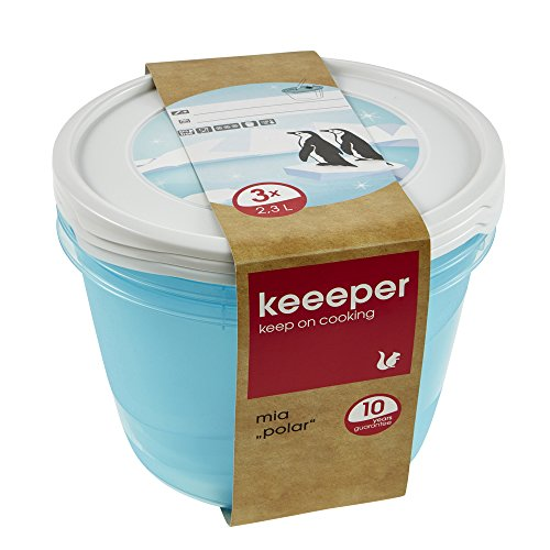 keeeper Mia Polar Tiefkühldose – 19,5 x 12 cm – rund – 3er Set