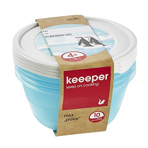 keeeper Mia Polar Tiefkühldose – 19,5 x 9 cm – rund – 4er Set