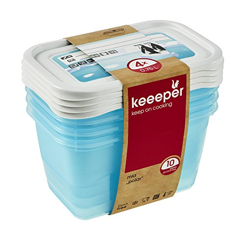 keeeper Mia Polar Tiefkühldose – 15,5 x 10,5 x 8,5 cm – eckig – 4er Set
