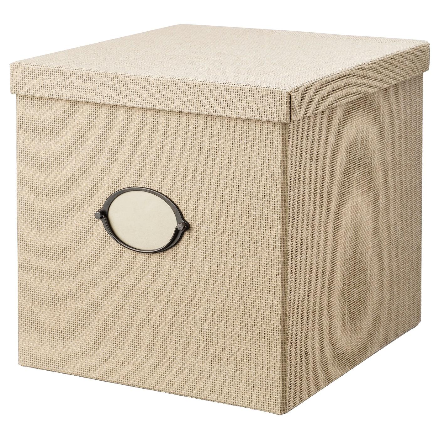 IKEA KVARNVIK Kasten mit Deckel – 35 x 32 x 32 cm – beige