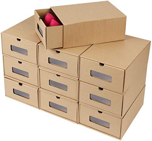 FEMOR Schuhaufbewahrung aus Pappe – 10er Set
