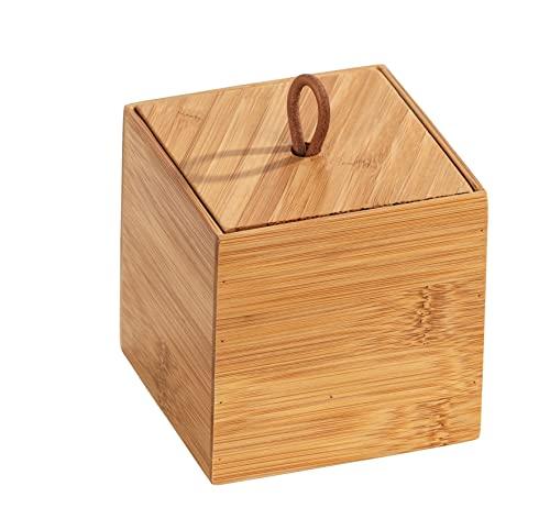 Wenko Bambus Box Terra S mit Deckel – 9 x 9 x 9 cm