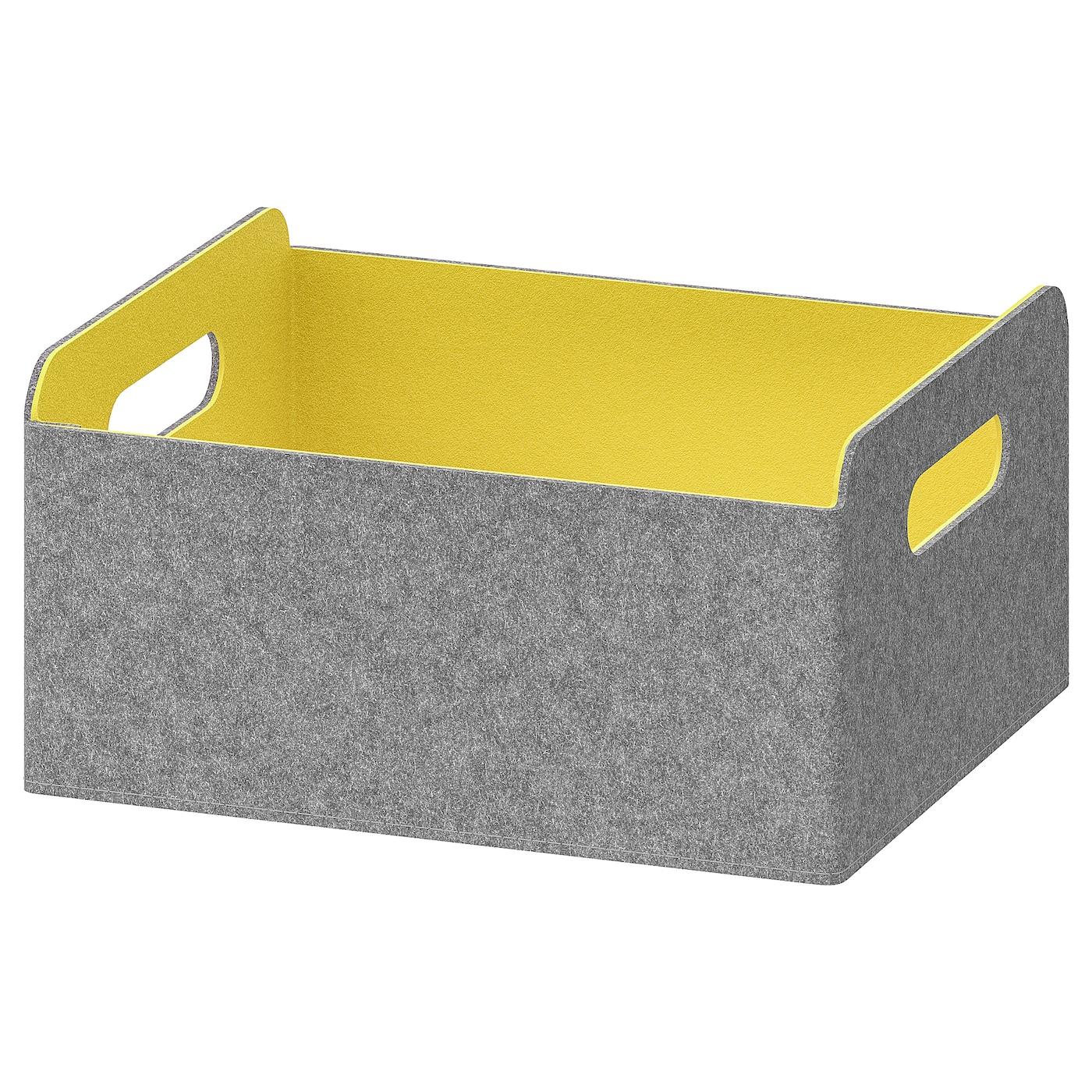BESTÅ Box grau-gelb