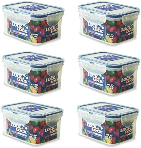 LOCK & LOCK Frischhaltedosen – 0,36 l – 15,1 x 10,8 x 4,5 cm – HPL810