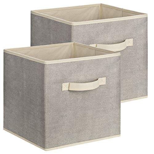 Quadratische Aufbewahrungsbox aus Stoff, 30 x 30 x 30 cm – 2 Stück
